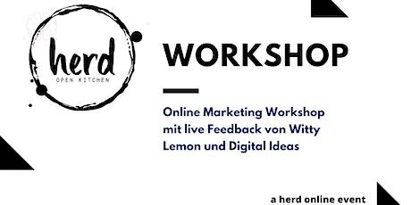 Online Marketing Workshop mit Digital Ideas und Witty Lemon tickets