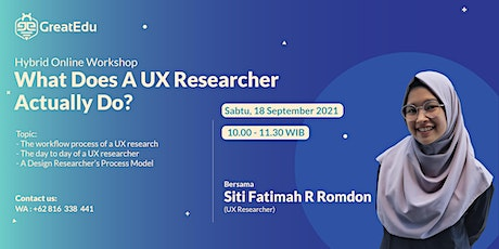 What Does A UX Researcher Actually Do? tickets
