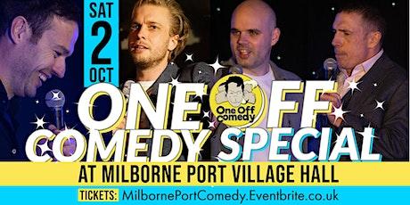 One Off Comedy Special @ Milborne Port VH, Sherborne! tickets