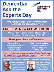 Dementia: Ask the Experts Event tickets