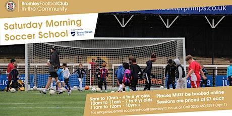 Saturday Morning Soccer School: August-December 2021 tickets