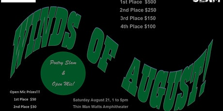 Winds Of August Poetry Slam & Open Mic tickets