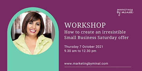 How to create an irresistible Small Business Saturday offer tickets