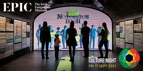 Culture Night 2021 at EPIC The Irish Emigration Museum tickets