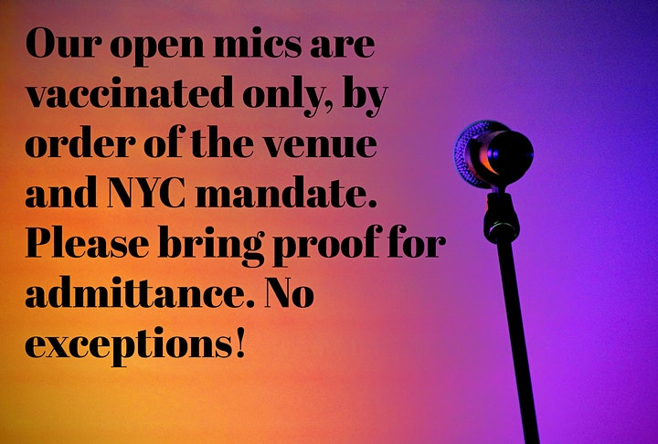 Monday Night NYC Showcase + Open Mic - Music/Poetry/Spoken Word/Comedy image