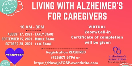 Living with Alzheimer's for Caregivers - LATE STAGE tickets