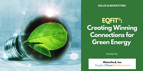 EQFIT®: Creating Winning Connections for Green Energy tickets
