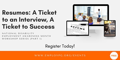 Resume Training Workshop - National Disability Employment Awareness Month tickets