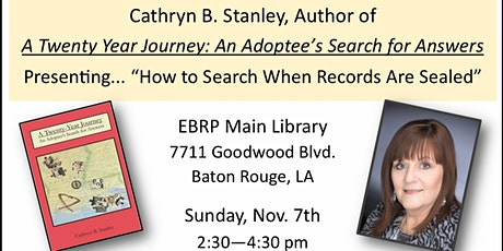 How To Search When Records Are Sealed:   An Adoptee's Search For Answers tickets