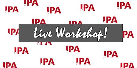 IPA *LIVE* Workshop - Winston-Salem, NC - Nov. 12-14, 2021 tickets
