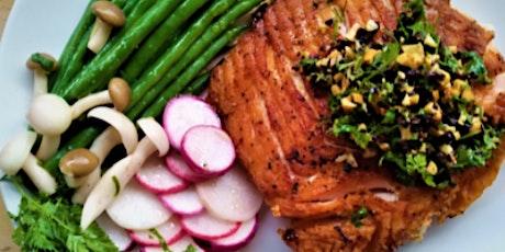 In-Person Class: Farmer's Market Bounty: Chef's Surprise Salmon (SF) tickets