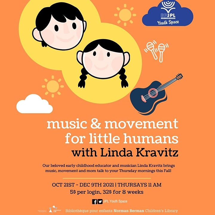 Music & Movement for Little Humans  with Linda Kravitz image