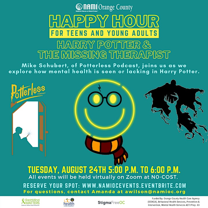 NAMI-OC's Happy Hour: Harry Potter and the Missing Therapist image