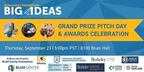 Big Ideas Grand Prize Pitch Day and Awards Celebration tickets