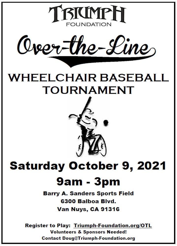Over-the-Line Wheelchair Baseball Tournament 2021 image