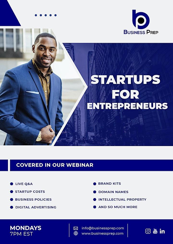 Business Prep - Startups for Entrepreneurs image