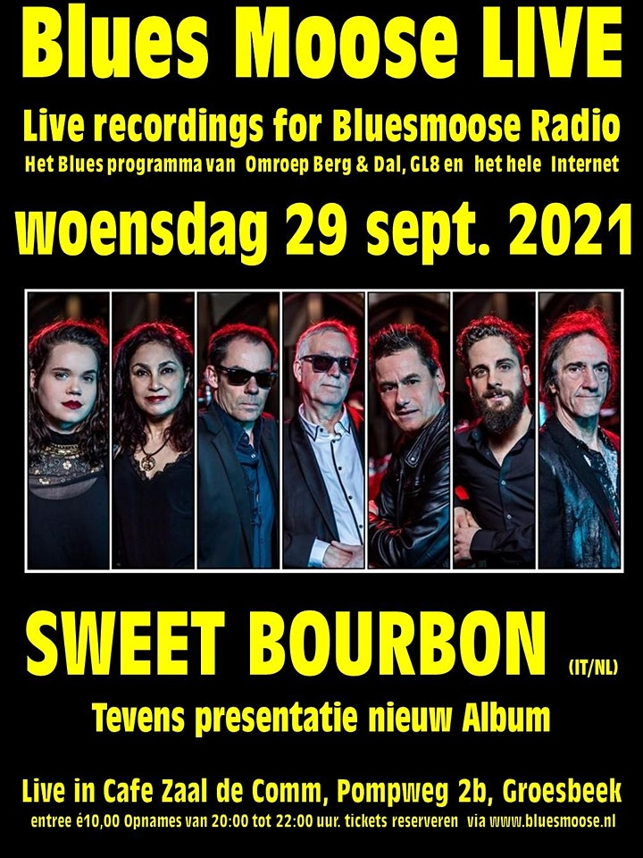 Afbeelding van Sweet Bourbon Live at Bluesmoose Radio (€10,00 bet