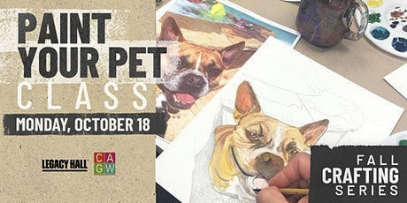 Fall Crafting Series: Paint Your Pet tickets