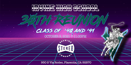 IHS 30th Reunion Party: Class of '90 and '91 tickets