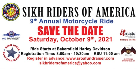 SROA 9th Annual Motorcycle Ride OCT, 9th 2021 tickets