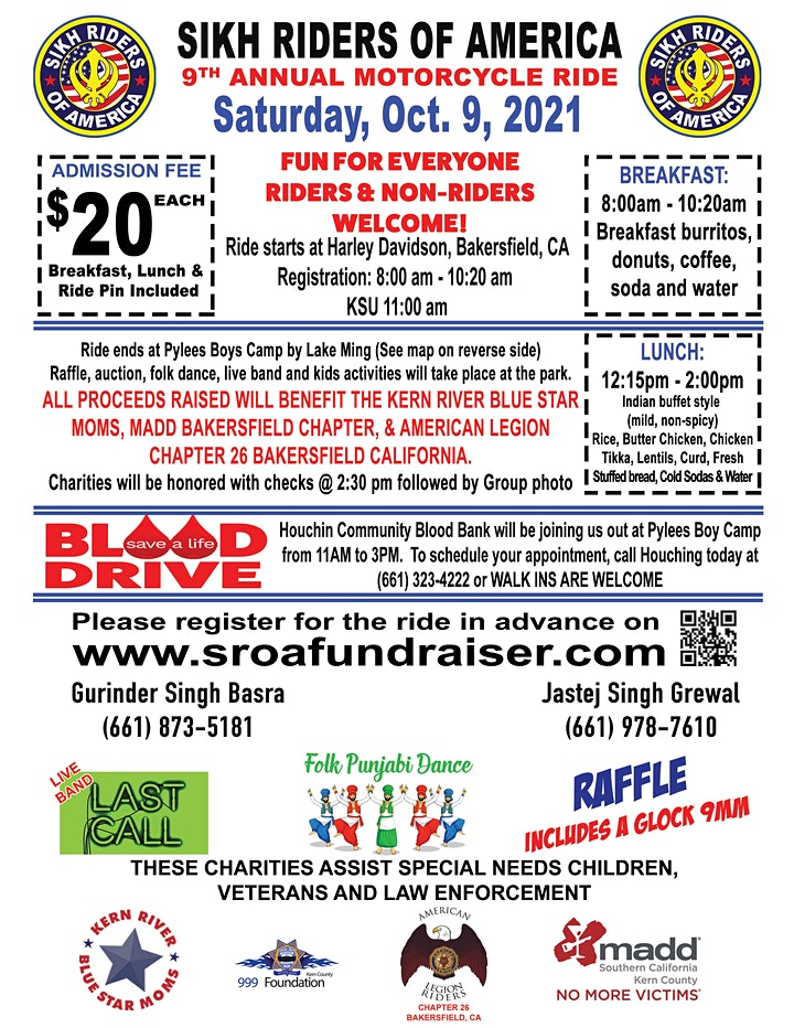 SROA 9th Annual Motorcycle Ride OCT, 9th 2021 image