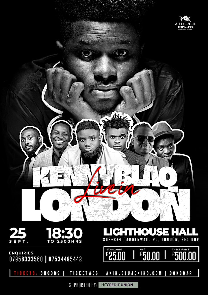 Kenny Blaq Live In London Concert @ TheLightHouse Hall w/DesStalker image