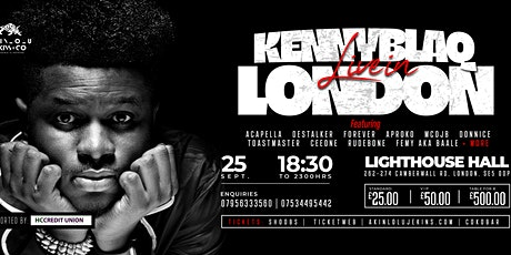 Kenny Blaq Live In London Concert @ TheLightHouse Hall w/DesStalker tickets