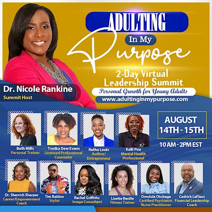 Adulting In My Purpose 2-DAY Virtual Leadership Summit image