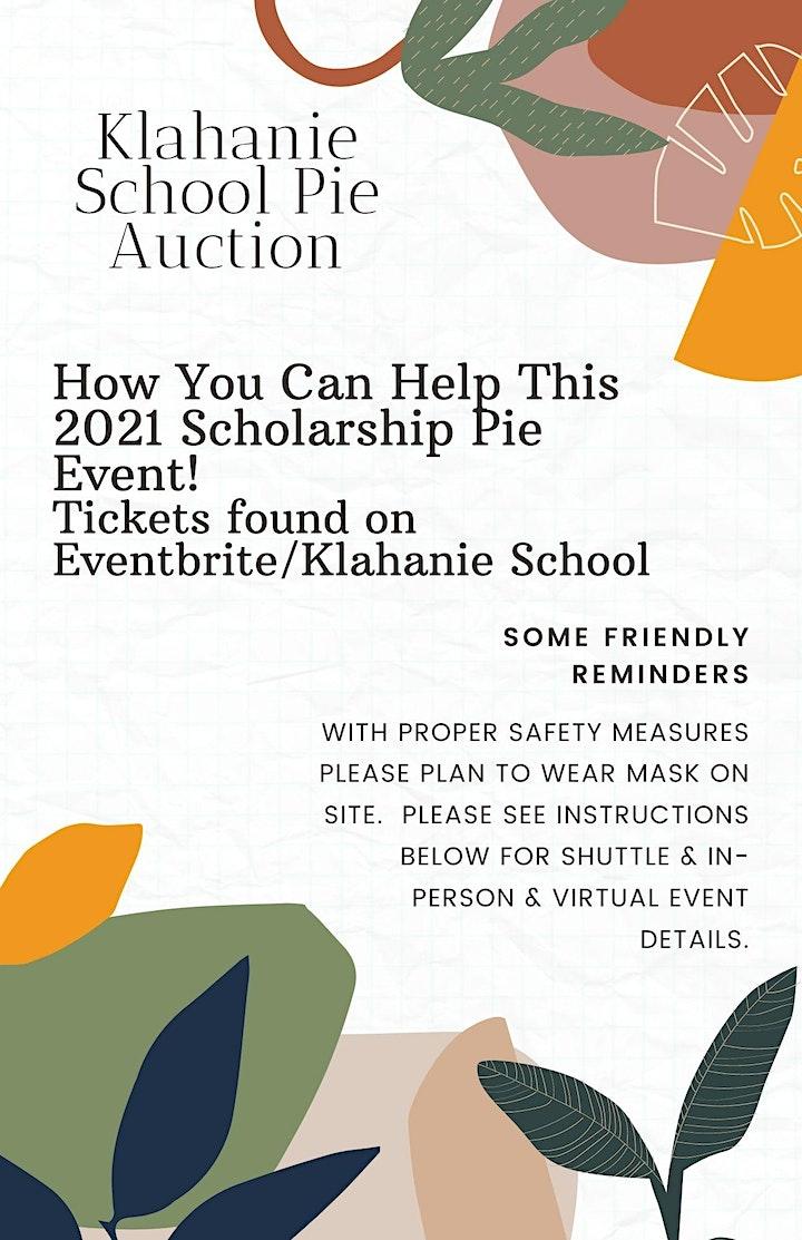 Klahanie School 2021 In-Person & Virtual Pie Auction Scholarship Fundraiser image