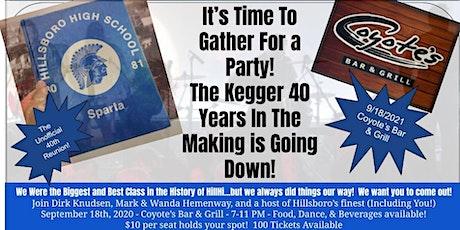 Hillsboro HS Class of 1981 Unofficial 40th Reunion tickets
