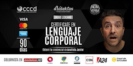 Certificación INTERNACIONAL en Lenguaje Corporal entradas