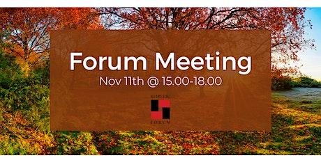 Forum Meeting November 11th tickets