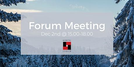 Forum Meeting December 2nd tickets