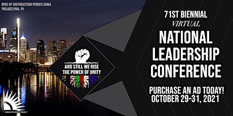 2021 Virtual NPHC National Leadership Conference - Souvenir  Journal tickets