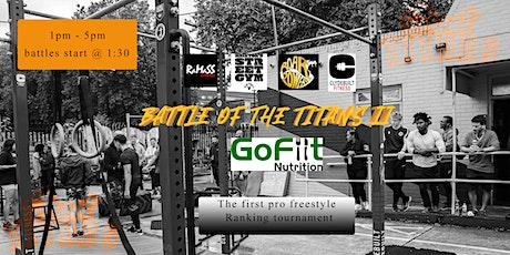 Battle of the Titans 2 - pro freestyle calisthenics tournament tickets