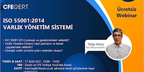 Webinar-ISO 55001:2014 Varlık Yönetim Sistemi biglietti