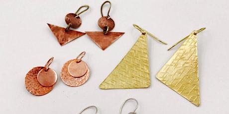 Earring Making Class - DIY Beginners Metalsmith Jewelry Workshop! tickets