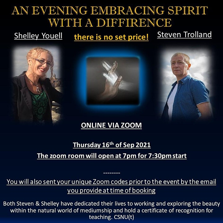 Embracing Spirit With a difference with Shelley Youell & Steven Trolland image