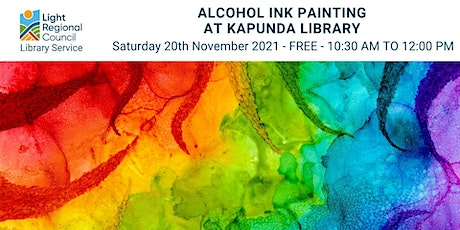 Alcohol Ink Painting @ Kapunda Library tickets
