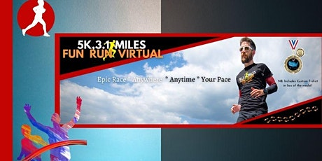 5K, 3.1 Miles Fun Run Virtual tickets
