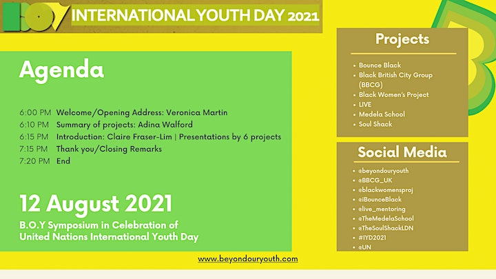 Beyond Our Youth Symposium to Celebrate UN International Youth Day image