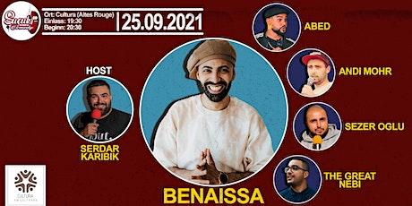 Sucuk Comedy präsentiert Benaissa Lamroubal von der Rebell Comedy. Tickets