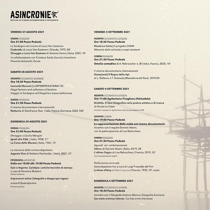Immagine ASINCRONIE 2021  Festival di Cinema Documentario e Fotografia