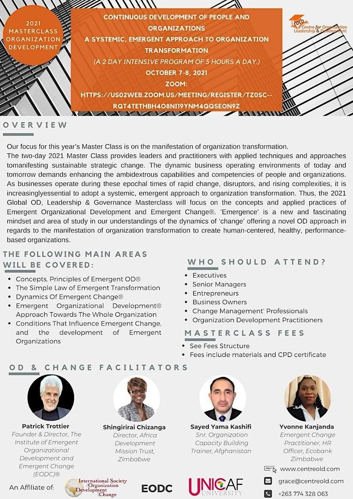 Global Organization Development (OD), Leadership & Governance Masterclass image