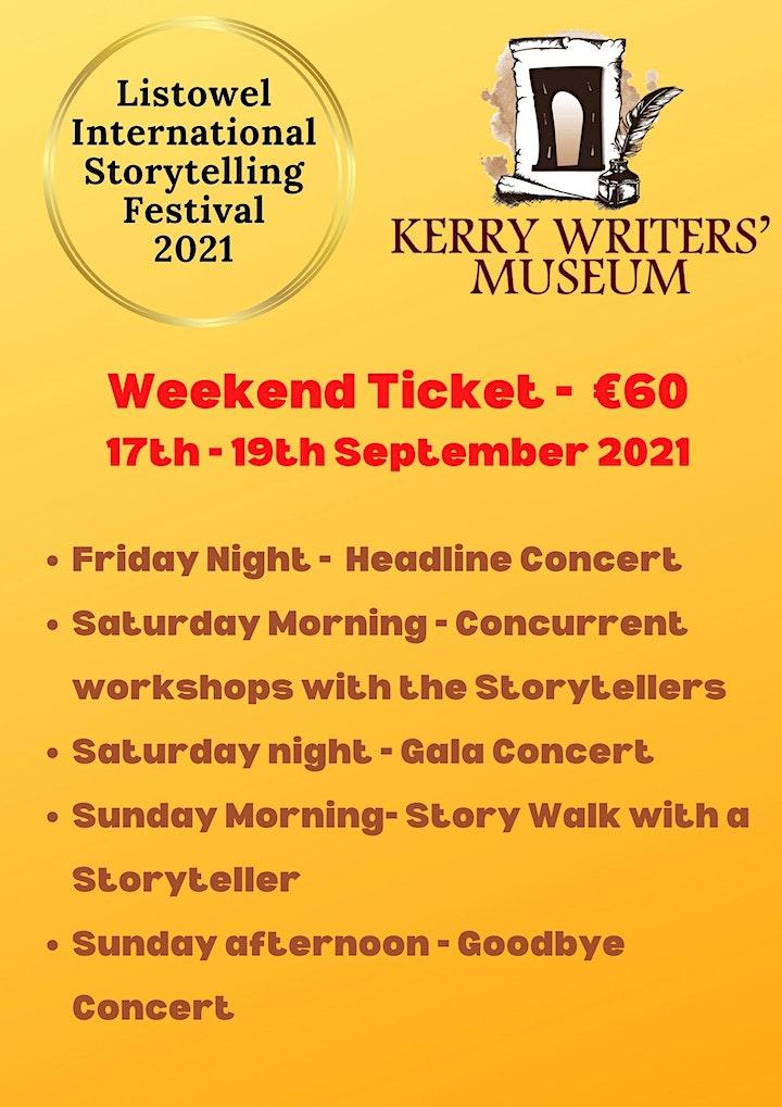 Listowel International Storytelling Festival 2021 - 17th -19th September 21 image