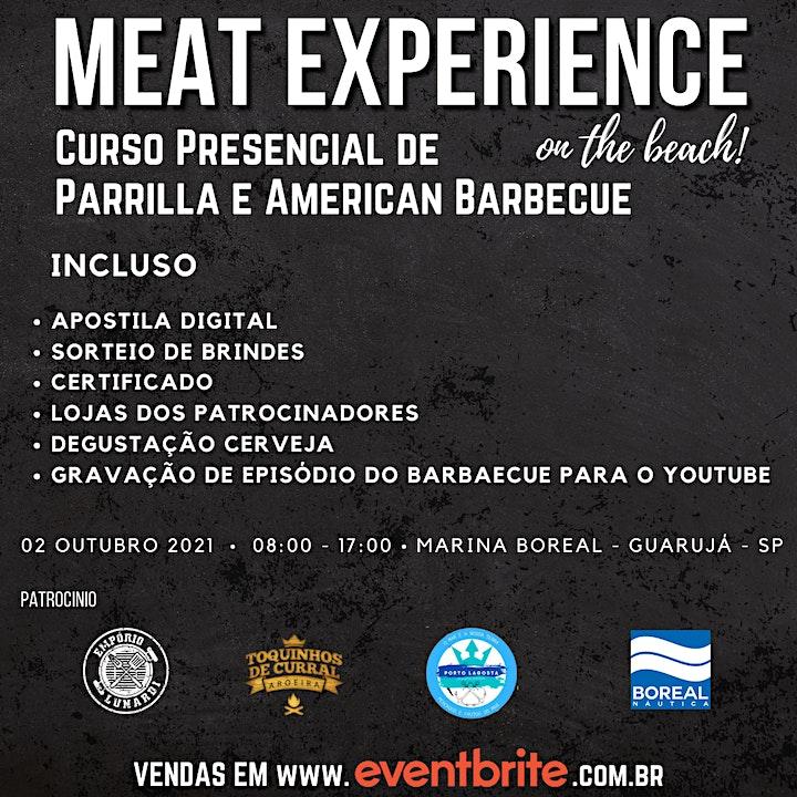 """Imagem do evento MEAT EXPERIENCE """"ON THE BEACH"""" PAIZÃO E RUFUS BBQ"""