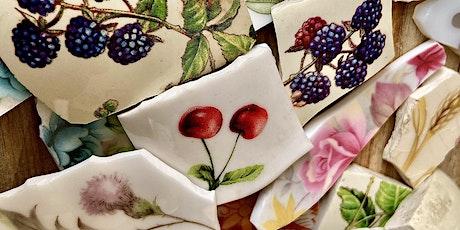 Crafty Afternoon Tea and vintage crockery into Art & jewellery workshop tickets