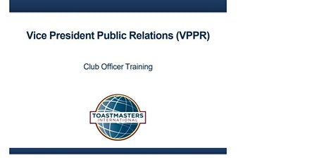 Toastmasters VPPR Workshops tickets