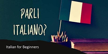 Italian for Beginners - Online tickets