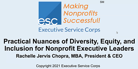 Practical Nuances of Diversity, Equity, & Inclusion for Nonprofit Leaders tickets